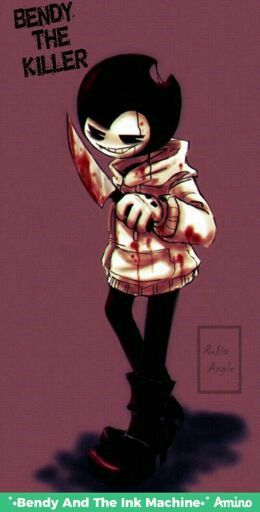 The cross over of Jeff the killer And BENDY!!!!