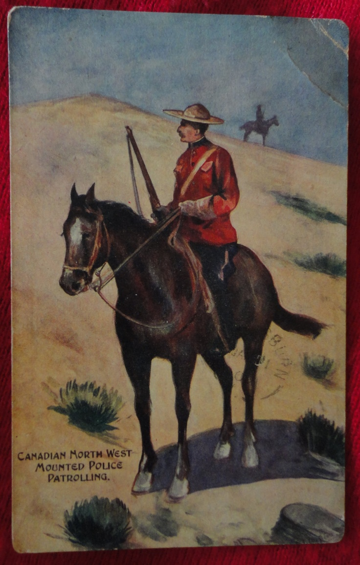 postcard 1909 Canadian North West Mounted Police