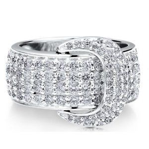 Sterling Silver 925 Cubic Zirconia CZ Buckle Bold Fashion Ring - Nickel Free Fashion Right Hand Ring-Mother's Day Gift Jewelry BERRICLE. $78.99. Stone Total Weight (ct.tw) : 1.75. Gender : Women. Stone Type : Cubic Zirconia. Metal : Stamped 925. Nickel Free and Hypoallergenic