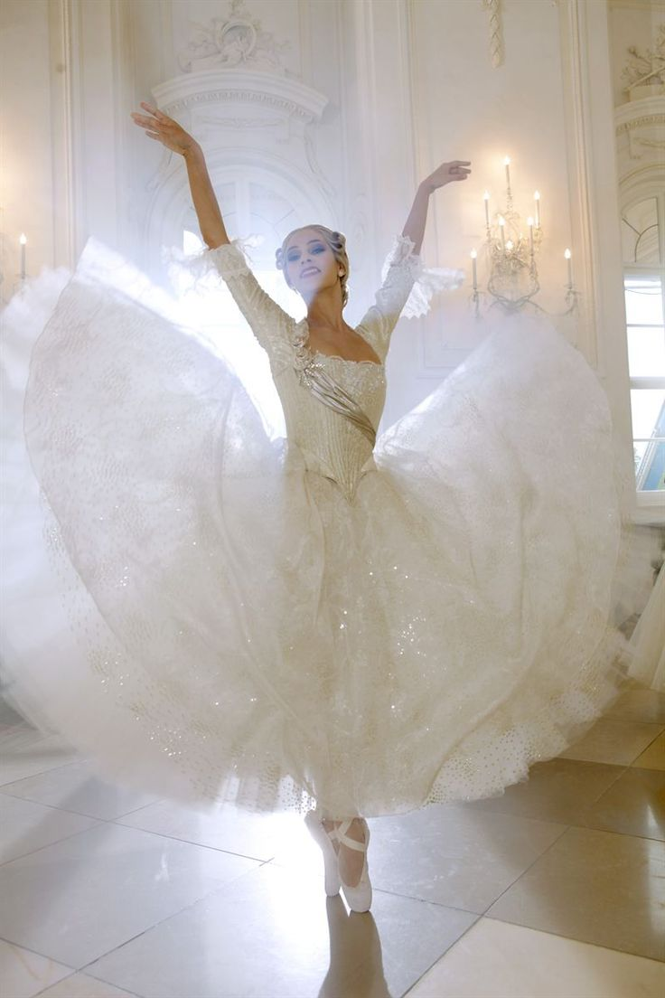 Maria Yakovleva, Principal of Vienna State Ballet, in a promo shoot for Vienna's New Year's Concert.