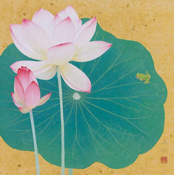 夏花 2013年 63 野地美樹子 2020 夏の花 日本画 睡蓮