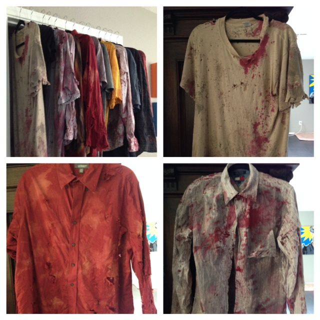 Zombie clothes - distressing