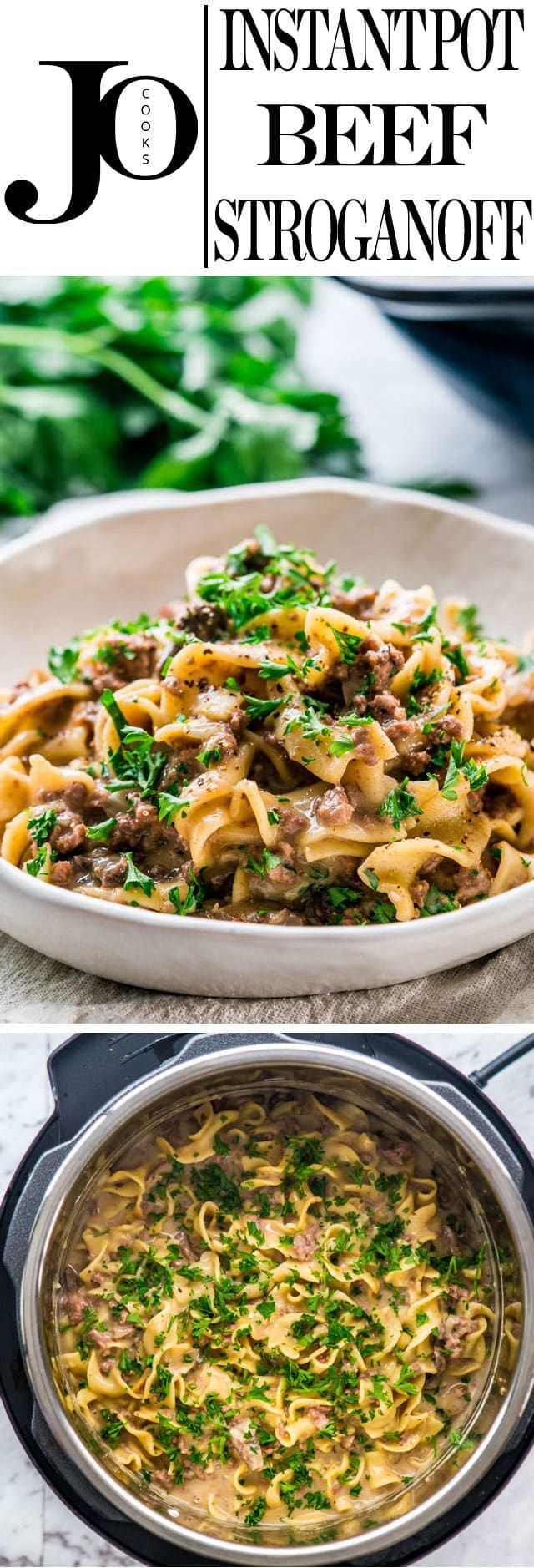 This Instant Pot Beef Stroganoff is about as easy and fast as it gets when makin…