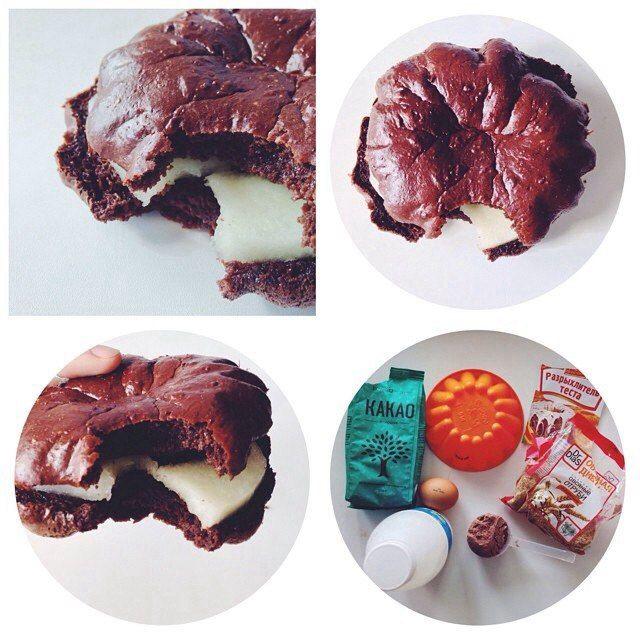 Вкусняшка на скорую руку. яйцо взбить добавить молока какао и 1 скуп протеина разрыхлитель и отруби Все смешать и выложить в форму, выпекать в разогретой духовке минут 15. Готовый шоколадный кекс можно разрезать и смазать йогуртом и поместить банан) (тогда подойдет для перекуса в первой половине дня, а если без начинки, то можно слопать и вечером)