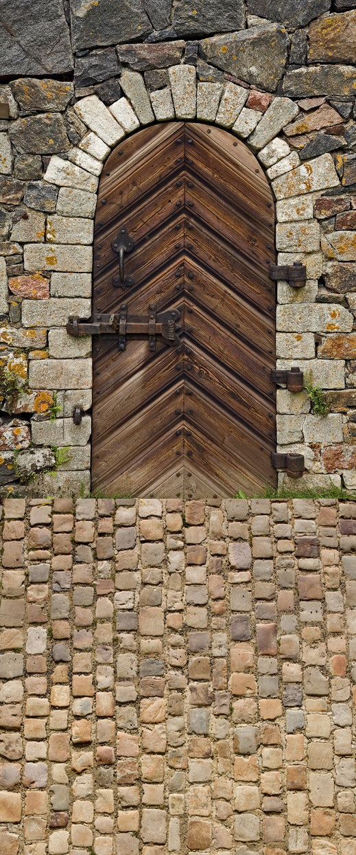 Package Deal   Rounded Wood Door and Brown by LollipopBackdrops, $150.00