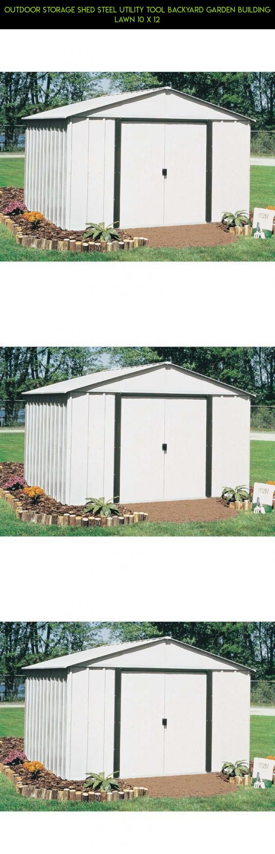 Outdoor storage shed steel utility tool backyard garden building lawn 10 x 12 10x12