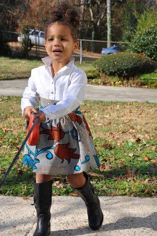 """""""Zaria"""" African Wax Cloth Skirt – Kyla's Closet Boutique"""