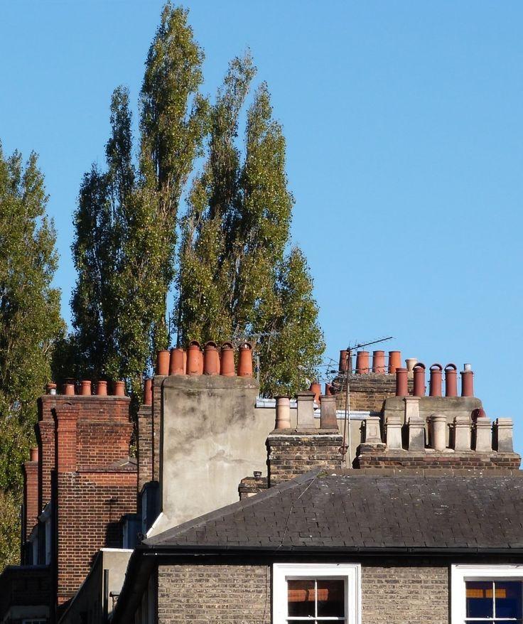 Chimneyscape in Well Walk, Hampstead