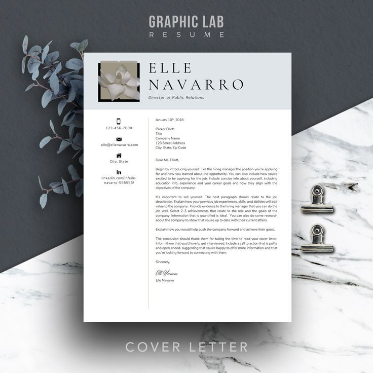 Coordinating CV and cover letter templates that
