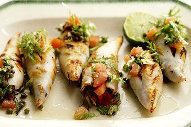 Καλαμαράκια γεμιστά αλλιώς: με μυρωδικά και φέτα | Κουζίνα | Bostanistas.gr