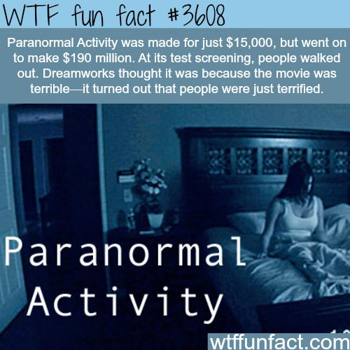 Pananormal activity's budget -  WTF fun facts