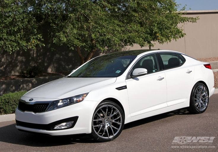 white kia optima with black rims 2012 kia optima with 20 giovanna kilis in chrome wheels my. Black Bedroom Furniture Sets. Home Design Ideas