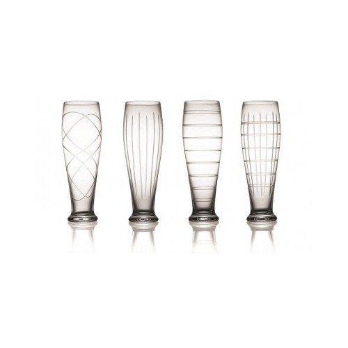 Pilsner Brew Drinking Beer Glasses Barware Collection Set of 4: Clear Glass with Striped Design Fifth Avenue Crystal http://www.amazon.com/dp/B00NZG3HUQ/ref=cm_sw_r_pi_dp_aFnkub1W99Y2H