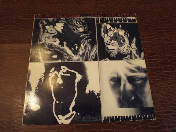 Rolling Stones EMOTIONAL RESCUE  Single LP Album  by burnedbunny