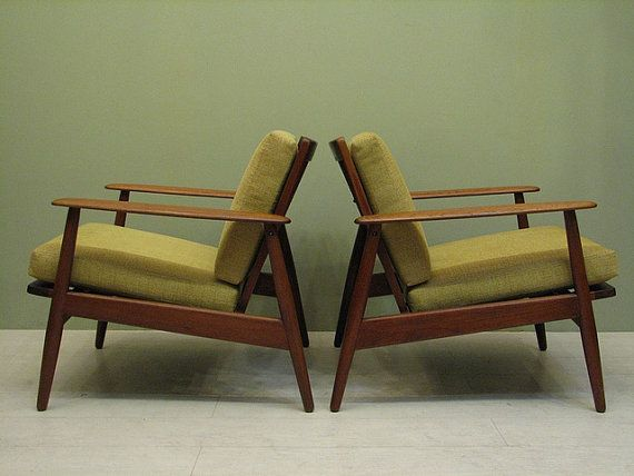 Pair Of Mid Century Danish Modern Teak Chairs   Imported By Moreddi