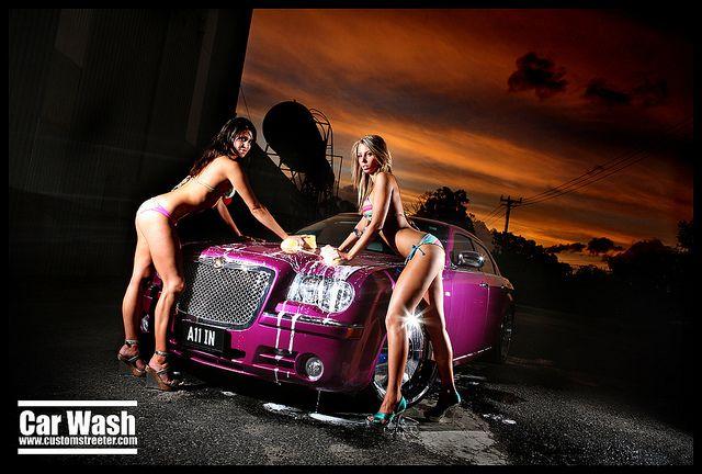 Chrysler 300C - Bikini Car Wash by Chris_Gentle, via Flickr