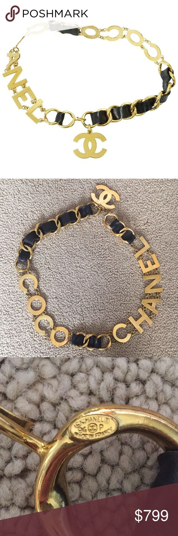 letter of resignation maternity leave%0A CHANEL Vintage   COCO CHANEL   Belt      authentic  vintage and purchased  over