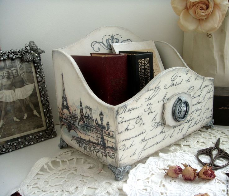 """Купить Короб-органайзер """"Paris 3"""" - белый, короб для хранения, Короб для мелочей, подставка для бумаг"""