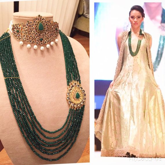 Kundan Chooker & long necklace  by HQJewels on Etsy
