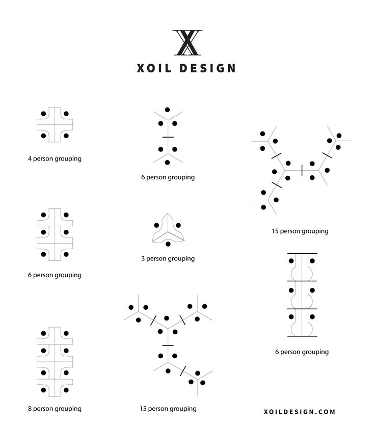 Office cubicle layout configurations drafted by Xoil Design