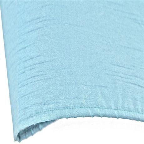 Faux Silk Shower Curtain 1800 x 1800mm w/ 12 Curtain Rings - Duck Egg - 63400