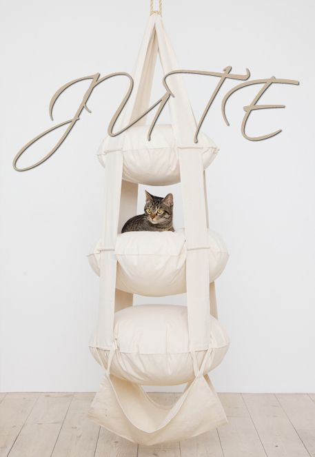 The Cat's Trapeze naturvit jute - 3 våningar