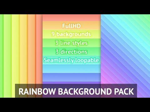Rainbow Background Pack