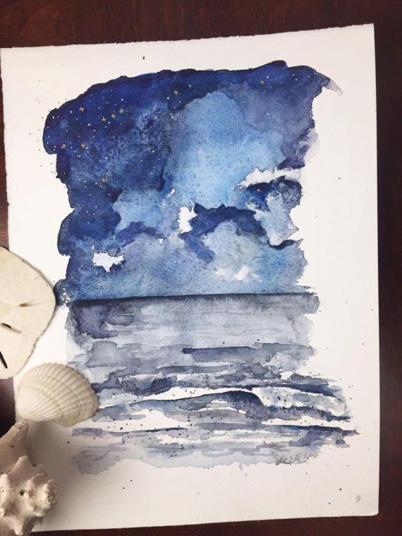 In Reverie   9x12 original watercolor painting