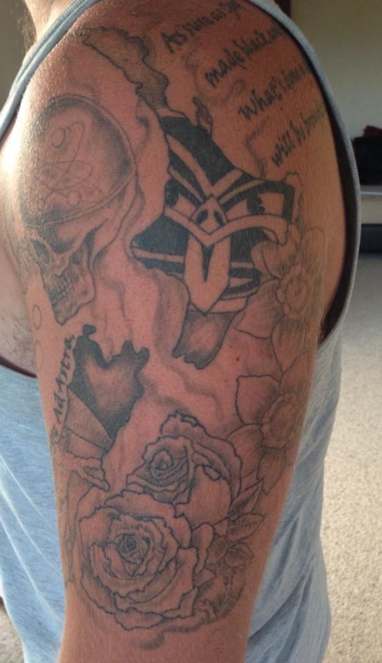 Matt Judkins' Warriors inspired tattoo