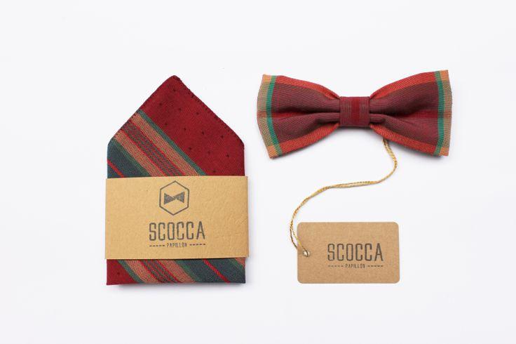pocket square + papillon - manifattura sartoriale - 100% tessuto vintage - manifattura sartoriale - made in Italy