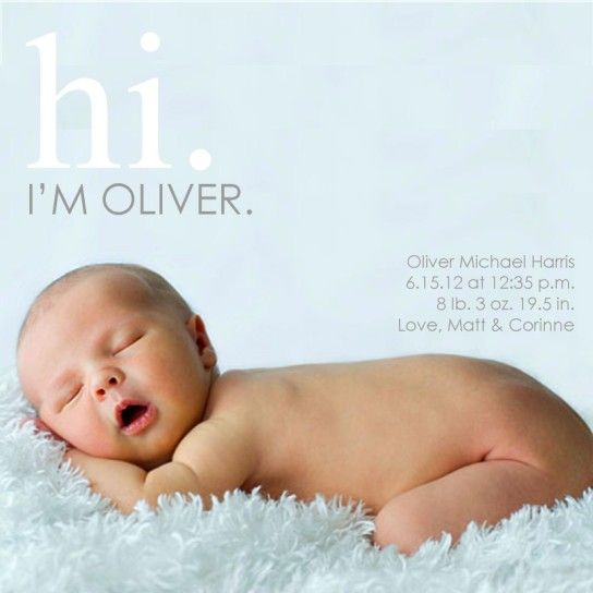 64 best Baby announcements images – When to Send Baby Announcements