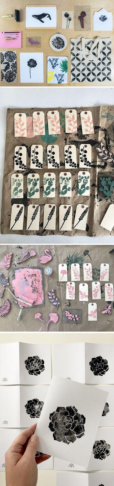 Botanical print designs by Little Print Fabrics