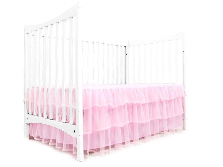 dimensions of crib skirt