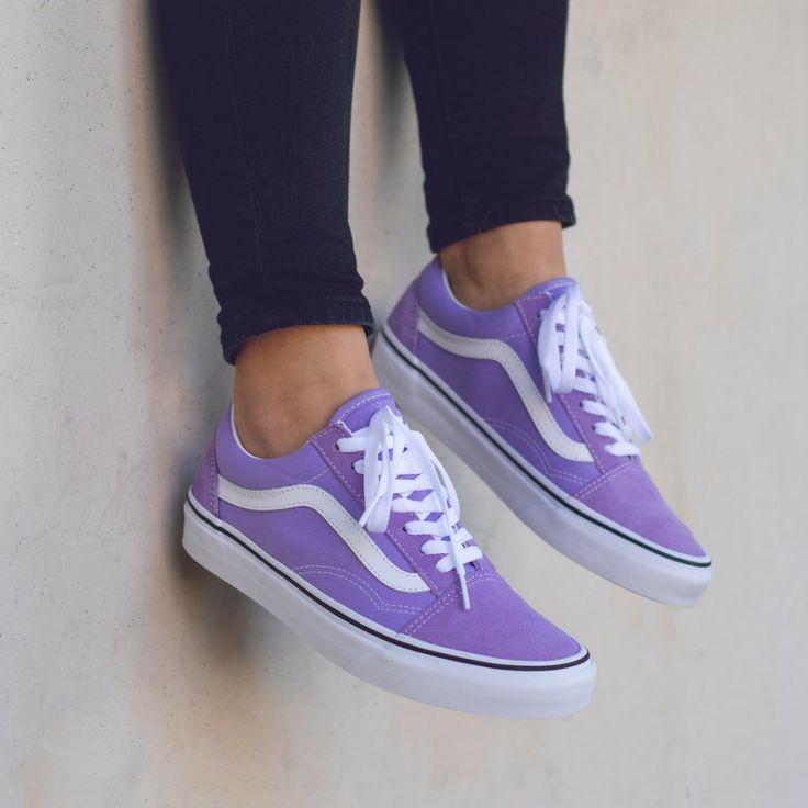 Vans Old Skool Purple | Vans shoes fashion, Vans shoes women ...