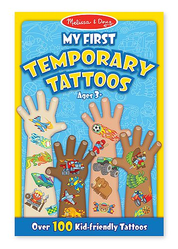 My First Temporary Tattoos - Blue | Toys for 5-7 year olds | Melissa and Doug