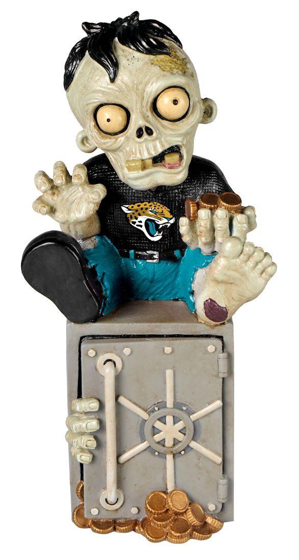 Jacksonville Jaguars Zombie Figurine Bank
