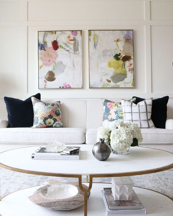 How To Style A Coffee Table Floral PillowsDecorative PillowsLiving Room