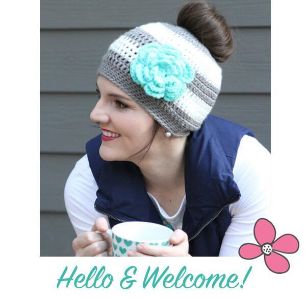 Use this messy bun crochet hat pattern from Daisy Cottage Designs to make this hat for your friends. This free crochet pattern is sure to be a favorite.