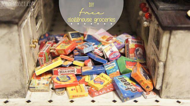 Free Dollhouse Groceries Printables