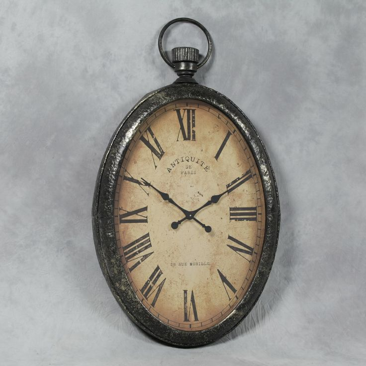 Pictures Of Clocks And Watches Extra Large Antiqued Oval