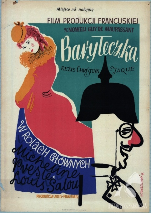 Baryłeczka/Angels and sinners - French movie, 1945 #movies #posters #French #1950s