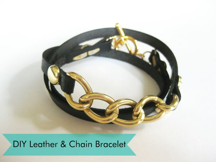 Thanks, I Made It: DIY Leather and Chain Wrap Bracelet