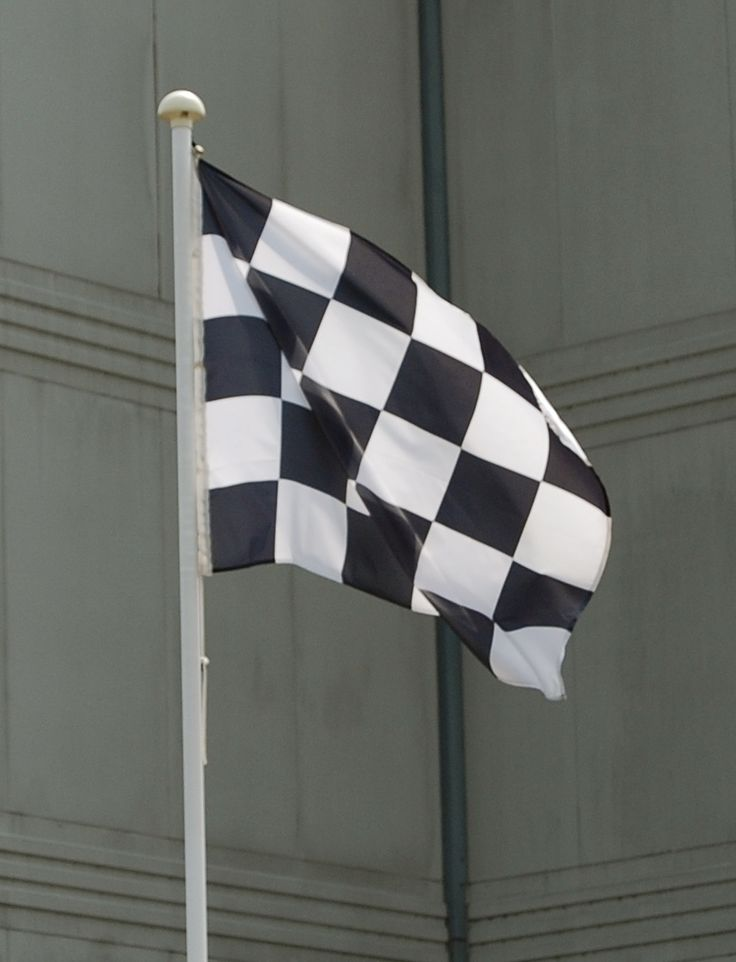 Chequered flag at Formula Student