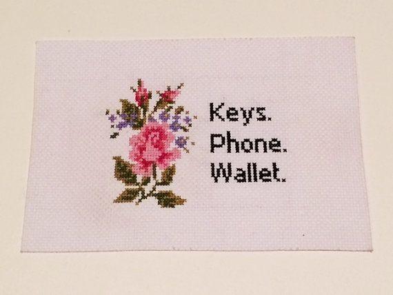 Schlüssel Handy Brieftasche Erinnerung von MerchantHandcrafts