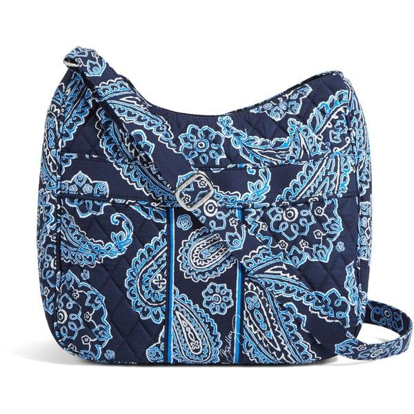 Vera Bradley Carryall Crossbody in Blue Bandana ($72) ❤ liked on Polyvore featuring bags, handbags, shoulder bags, blue bandana, online clearance, sale, crossbody shoulder bags, vera bradley handbags, vera bradley crossbody and crossbody handbags