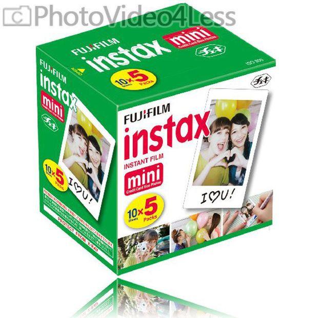 50 Sheets Fujifilm Instax Mini Instant Film For Mini 90 8 25 7S  Instant Camera