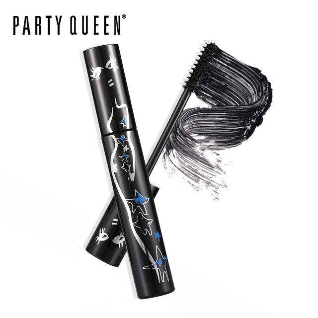 Party Queen All-In-One Jet Black Tube-Mascara Eyes Makeup Extra Volume Curling Eyelashes Waterproof Thick Smudge-proof Mascara