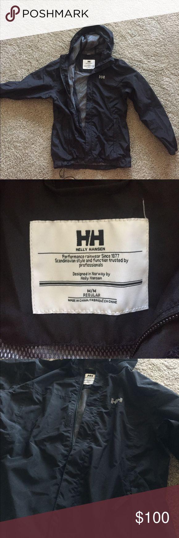 Helly Hansen Black Rain Jacket Pre loved. Black. Helly Hansen authentic. Size med Helly Hansen Jackets & Coats