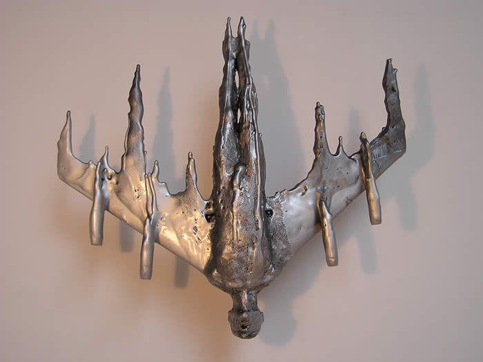 Bronze sculpture—Icarus—by Anna Gillespie