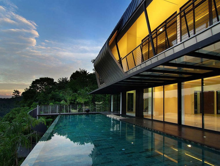Exterior of Country Heights House by LOOK Architects.  I want a lap pool so badly....